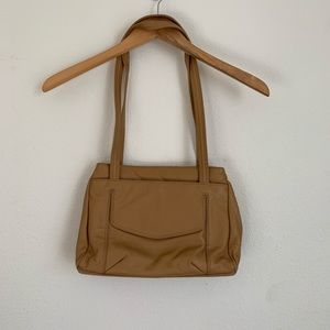 Stone Mountain tan leather shoulder bag
